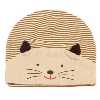 Ormano Topi Baby Anak Little Smiley Cat Cap - Coklat Muda