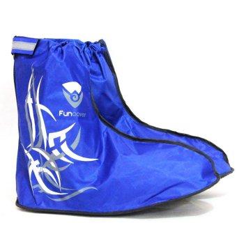 harga Funcover Jas Hujan Sepatu Covershoes Tribal Biru Lazada.co.id