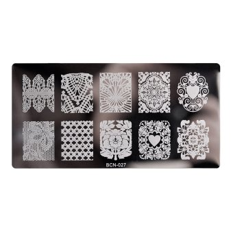Reusable Nail Stamping Plate Manicure Steel Rectangle Decal