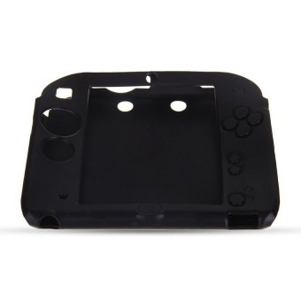 Generic Silicone Protective Cover Case Skin Rubber Bumper for Nintendo 2DS Black