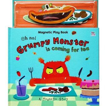 Genius Buku Anak Genius Magnetic Play Book : Oh No! Grumpy Monster Is Coming For Tea