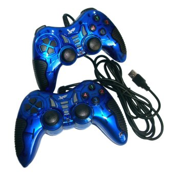 K-One Gamepad Turbo Double Getar 8072 - Biru