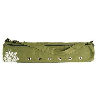Embroidery Cavas Mat Bag plus YOGA Fitness g0946e Olive - Intl