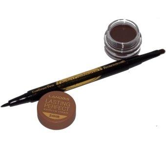 Landbis Eyebrow Gel 3 In 1 #3 - Natural Brown