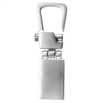 8GB Modern Metal Silver Buckle USB 2.0 Flash Stick Memory Drive Pen Storage - Intl
