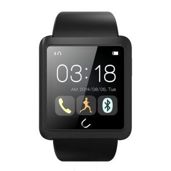 U10L U Watch Waterproof Anti-lost Bluetooth Smart Watch for iPhone Android Phone Black