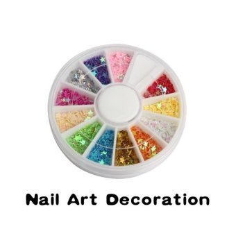 Nail Art UV Acrylic Tips Star Flake Glitters Decoration Multicolor Wheel (Intl)