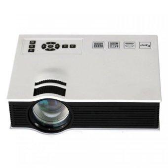 1080P HDMI USB HD 1800 Lumens LED Mini Home Multimedia Projector (White) (Intl)