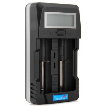 TrustFire TR-011 Digital Intelligent Battery Charger LCD Power Bank with Two Slots USB Port terpercaya