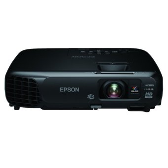 Epson TW570 - Home theater 3 LCD Projector - 3000 ANSI - WXGA 1080x800 - 15.000:1 - Black