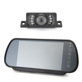 CTO Car Rear View Reverse Monitor +Transmitter + 7 LED Camera (Black) - Intl