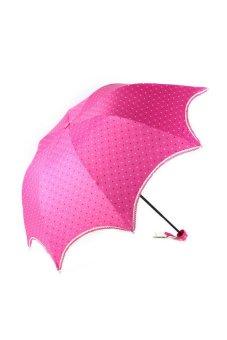 Lace Sunscreen Umbrella (Pink)