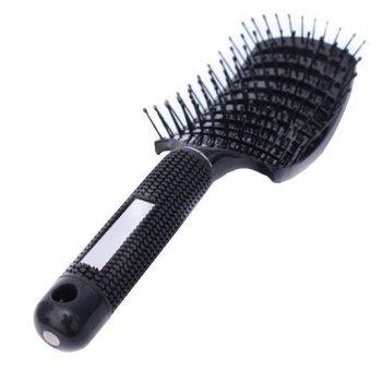 PROFESSIONAL PREMIUM QUALITY EZ FLOW VENTED HAIR Detangling Brush GLIDE Thru Detangler for Wet and dry, SUPER SOFT FLEXIBLE IONIC (Intl)