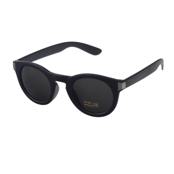 ZUNCLE Fashion Gangnam Style PC Frame UV400 Protection Resin Lens Sunglasses - Matte Black + Deep Grey Blue (Intl)