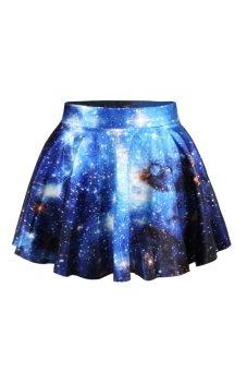 Women's Printing Mini Skirt Short Skirt Kilt Tutu Dress Stars Pattern - Intl