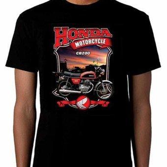 harga Djogja Klasik Kaos Motor CB200 Honda - Hitam Lazada.co.id