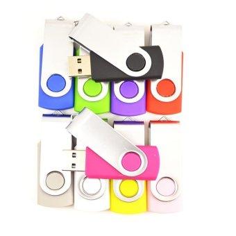 FbscTech 100 Pack Swivel 256MB USB Flash Drive 10-Color Assorted- Intl