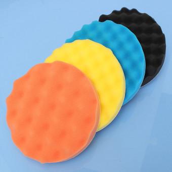 harga 4Pcs 7/180mm Sponge Waffle Polishing Buffer Pad Foam Kit Tool For Car Polisher - Intl Lazada.co.id
