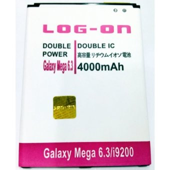 Log On Battery Double Power For Samsung Galaxy Mega 6.3 terpercaya