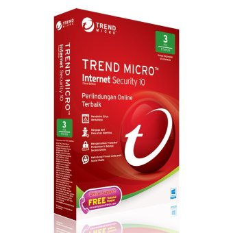 Trend Micro Internet Security 10 - 3 user WINDOWS ONLY