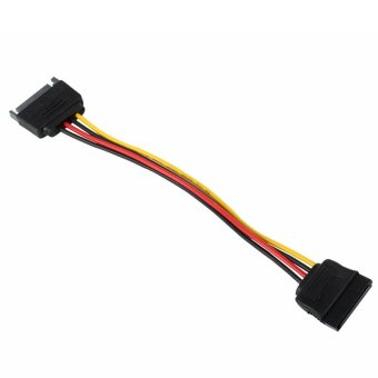 louiwill 8 Inches Male to Female 15 Pin SATA Power Extension Cable (Intl)
