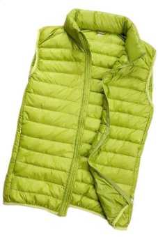 2015 Winter New Short Down Vest Ultra Light Casual Sleeveless Down Jacket(Green) (Intl)