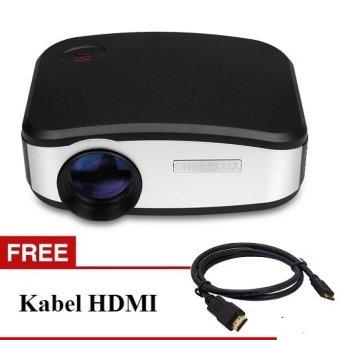 TiFo C6 CHEERLUX mini LED projector 800x480 pixels 1200 lumens Home theater + TV Tunner Free HDMI - Hitam