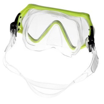 Scuba Diving Mask Goggles Swimming Diving Snorkeling Equipment 4mm Toughened Tempered Glass Yellow - Intl