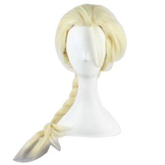 32'' Long Heat Resistant Blonde Hair Wig Elsa's Braid Cosplay Party Wavy Wig