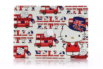 HRH Decals Water Transfer Stickers Fashion Photo Shell Ultra-thin Silk PC Case for Apple Macbook Pro Retina 15.4 Inch with logo (Red Cute Cat)- Intl