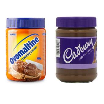 harga Ovomaltine Crunchy Cream - 400gr + Cadbury Chocolate Spread - 400gr Lazada.co.id