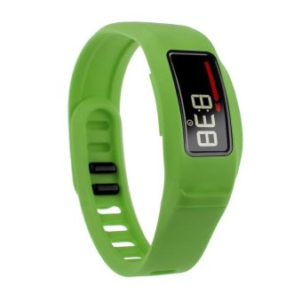 HKS New Replacement Silicone Strap Clasp Wrist Bracelet Band for Garmin Vivofit 2 Green S - Intl