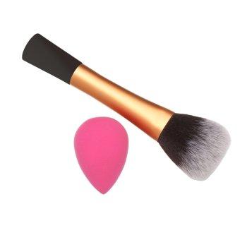 Portable Makeup Cosmetics Set Powder Brush+Sponge Puff - INTL