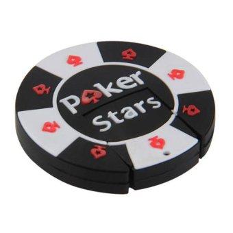 Mini USB Stick 2.0 capacity 16 GB Flash Memory Stick Storage Round Poker Star Token (Intl)