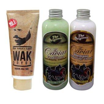 Wak Doyok Cream, Caviar Shampoo, dan Caviar Conditioner - Paket Penyubur Rambut