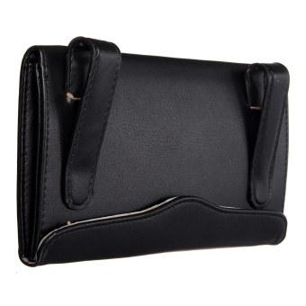 Auto Accessory Paper Napkin Holder PU Leather Clip Car Sun Visor Tissue Box black - Intl - Intl
