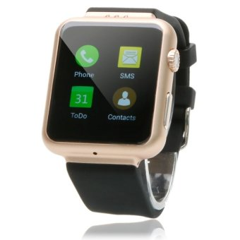 K8 Android 4.4 with 2M pixels Webcam Wifi FM Bluetooth Smart Watch Phone Support SIM Card Champagne