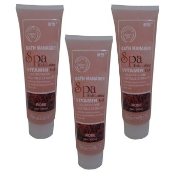 Yesnow, Body Spa Exfoliating Gel, Rose - 350ml - 3pcs