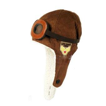 harga Camp Korean Pilot Hat - Topi Pilot Bayi dan Anak - Classic Brown Lazada.co.id