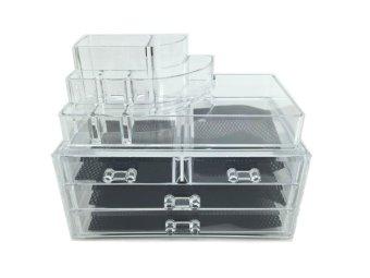 harga Acrylic High Clarity Make Up/Cosmetics Organizer - Multipurpose cabinet Lazada.co.id