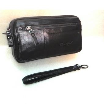 harga Cheersoul Tas tangan pria Tas genggam Handbag kulit pria Tas pasport [Hitam] Lazada.co.id