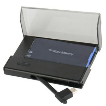 Universal Battery Charger Bundle for BlackBerry Q10 - Hitam terpercaya