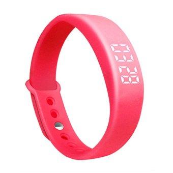 W5 Smart Wristband Pedometer Sleeping Monitor Tracker Red (Intl)
