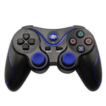 S & F Wireless Bluetooth Controller for Sony PS3 (Black and Blue) - Intl