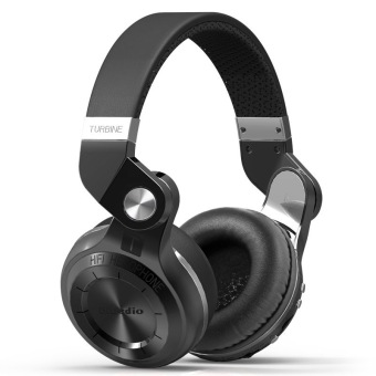 Bluedio T2+ Fashionable Foldable Over The Ear Bluetooth Headphones BT 4.1 Support FM Radio& SD Card Functions Music&Phone Calls(Black) - Intl