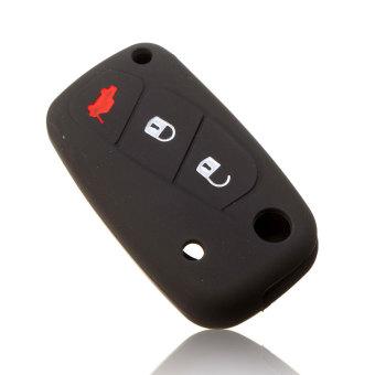 1pc 3 buttons Luminous Silicone car key case cover for FIAT Panda Stilo Punto Doblo Grande Bravo 500 Ducato Minibus 3 keychain - Intl