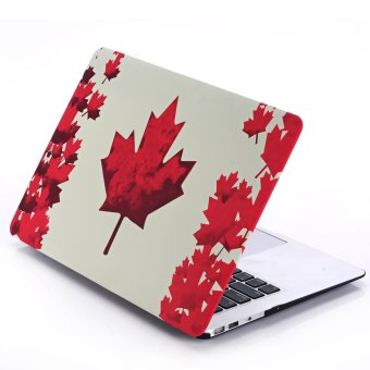 HRH Fashion Decals Water Transfer Stickers Shell Ultra-thin Silk PC Case for Apple Macbook Air 13.3 Inch without logo (Canada flag)- Intl