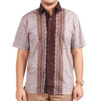 harga Djoeragan Kemeja Batik Modern LK03 - Coklat Lazada.co.id