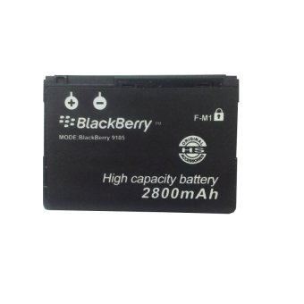 Li-ion Baterai Blackberry F-M1 Double Power High Capacity 2800mAh for BlackBerry Pearl 9100 9105 Style 9670 - Hitam terpercaya