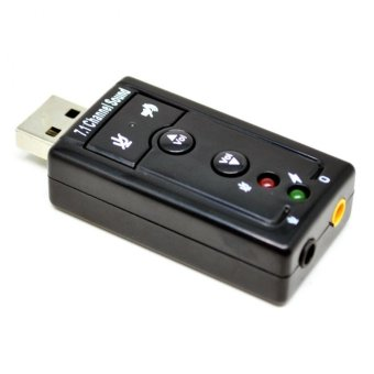VZTEC USB 7.1 Channel Sound Card Adapter VZ-UA3915 - Hitam